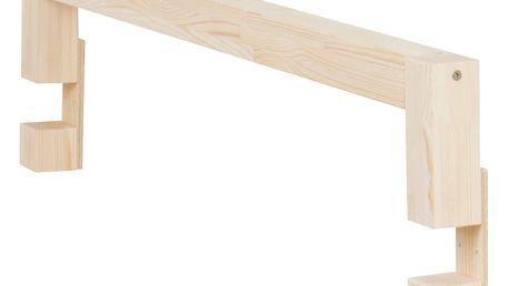 Bočnice z přírodního borovicového dřeva k posteli Benlemi Safety,délka90cm