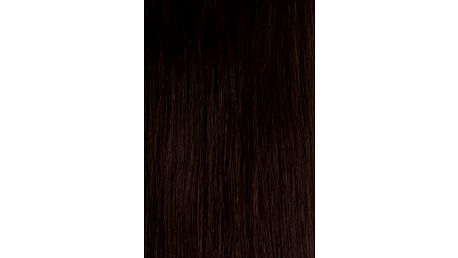 CLIP IN vlasy - set 50 cm tmavě hnědá
