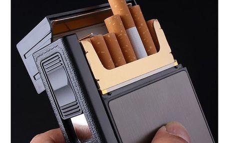Pouzdro na cigarety se zapalovačem FOCUS