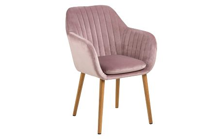 Růžová jídelní židle Actona Emilia Vic