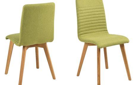 Sada 2 zelených jídelních židlí Actona Arosa