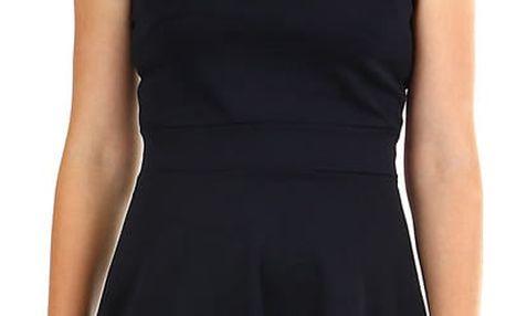 Dámské společenské šaty s perličkami černá