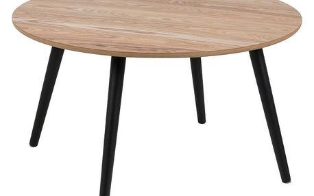 Odkládací stolek s dýhou z jasanu Actona Stafford, ⌀80cm