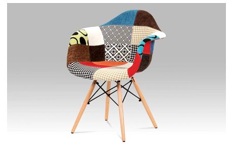 Jídelní židle, patchwork / masiv buk CT-755 PW2 Autronic
