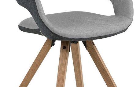Světle šedá jídelní židle Actona Grace