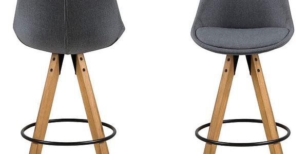 Sada 2 tmavě šedých barových židlí Actona Dima - doprava zdarma!2
