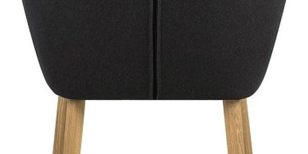 Tmavě šedá jídelní židle Actona Emilia - doprava zdarma!2