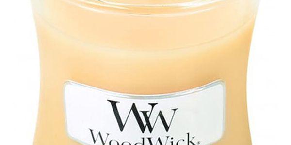 Svíčka s vůní zimolezu a jasmínu WoodWick, dobahoření20hodin