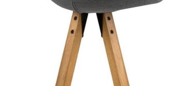 Sada 2 tmavě šedých barových židlí Actona Dima - doprava zdarma!3