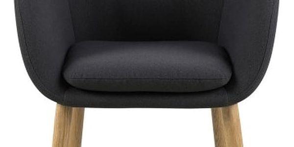 Tmavě šedá jídelní židle Actona Emilia - doprava zdarma!4