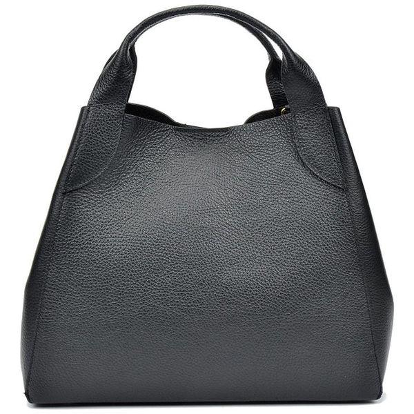 Černá kožená kabelka Sofia Cardoni Mardon