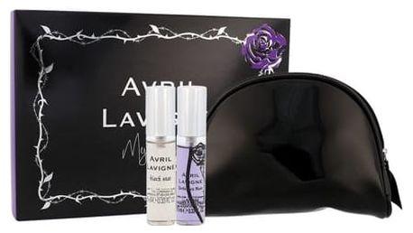 Avril Lavigne Mini Set EDP dárková sada W - edp Black Star 10 ml + edp Forbidden Rose 10 ml + kosmetická taška