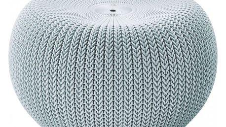 Keter KNIT 35668 Moderní taburet ve stylu - šedá