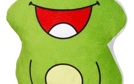 Jahu Tvarovaný 3D polštářek Veselá žabka, 30 x 30 cm