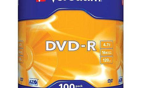 Disk Verbatim DVD-R 4,7GB, 16x, 100cake (43549)
