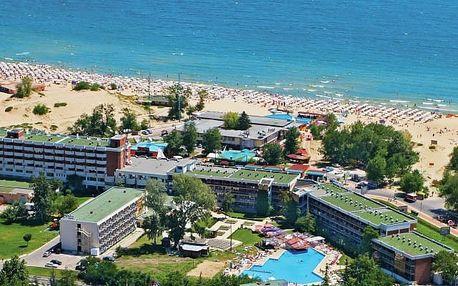Bulharsko - Slunečné Pobřeží na 8 až 15 dní, snídaně s dopravou letecky z Budapeště 50 m od pláže