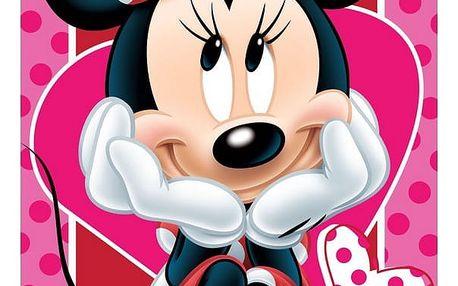 Jerry Fabrics Osuška Minnie hearts 02, 70 x 140 cm