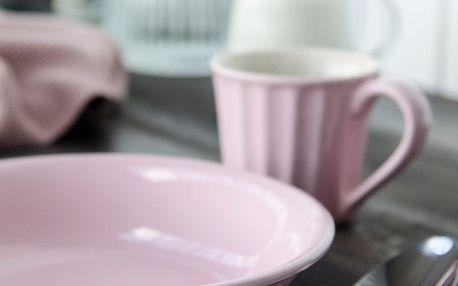 IB LAURSEN Hluboký talíř Mynte English Rose, růžová barva, keramika