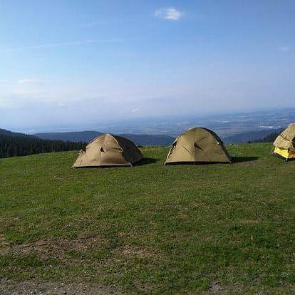 Přespání ve stanu na horské pláni v Krkonoších pro 2 osoby - Jedinečný zážitek