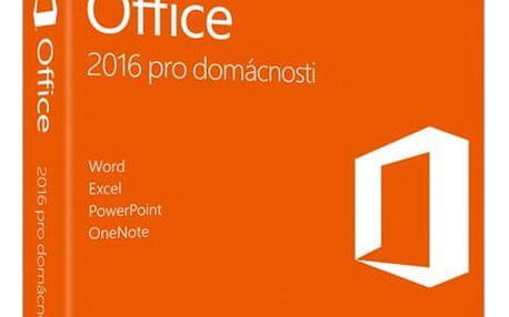 Software Microsoft Office 2016 CZ pro domácnosti (79G-04723)