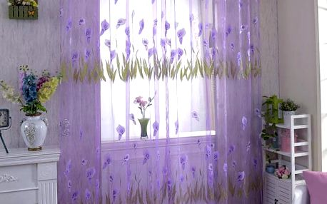 Záclonka s květy kaly - 4 barvy