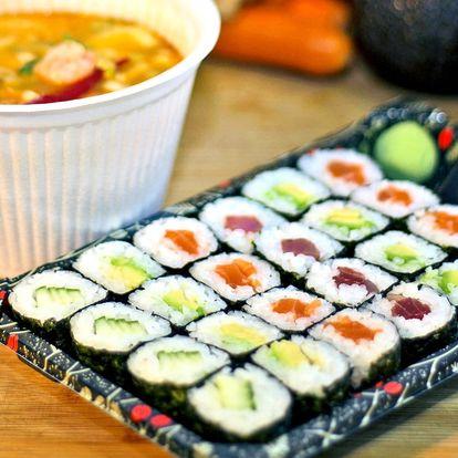 Obědové sushi menu s rozvozem Praha 5, 6, 13, 17