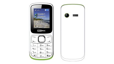 Mobilní telefon MaxCom Classic MM129 Dual SIM bílý/zelený (MM129WHDS)