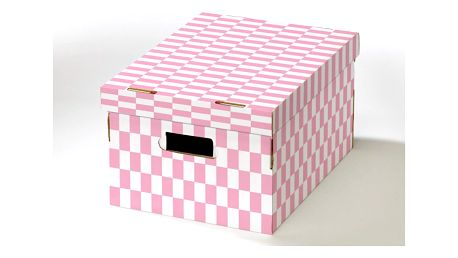 Krabice s víkem z vlnité lepenky Compactor Teddy, 40x31x21cm
