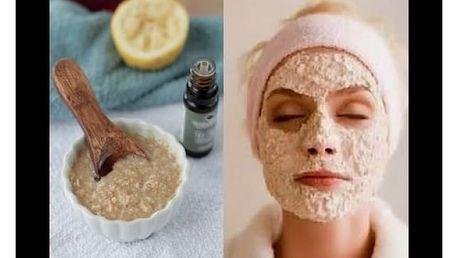 Přírodní čistící pleťová ovesná maska s jogurtem a citronovou šťávou