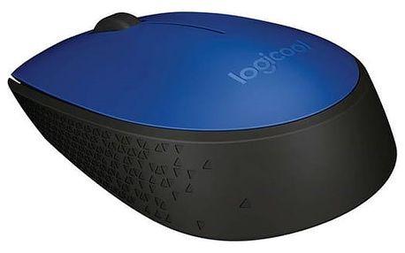 Myš Logitech Wireless Mouse M171 modrá (/ optická / 2 tlačítka / 1000dpi) (910-004640)