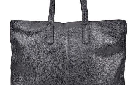 Černá kožená kabelka Luisa Vannini Thalia