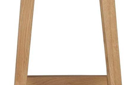 Přírodní dubová stolička Folke Gorgona, výška 75 cm