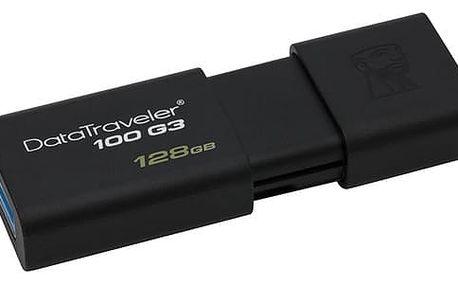 USB Flash Kingston DataTraveler 100 G3 128GB černý (DT100G3/128GB)