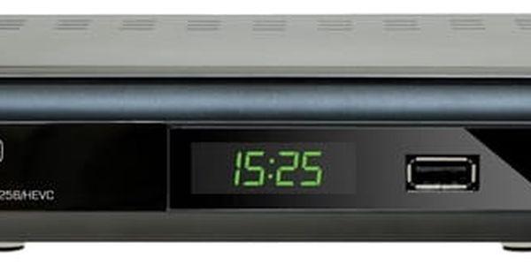 DVB-T2 přijímač Evolveo Gamma T2 černý + dárek USB Flash Evolveo 32GB, USB 3.0 černý