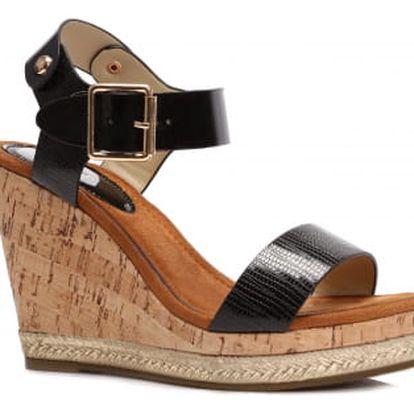 Dámské černé sandály Mango 2007