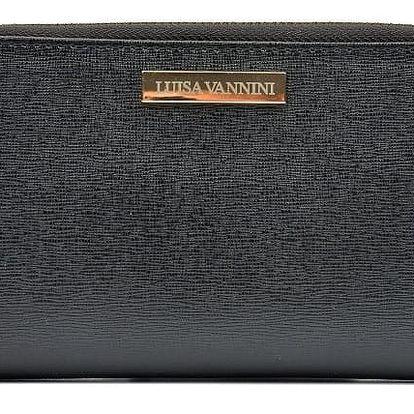 Černá kožená peněženka Luisa Vannini Camila