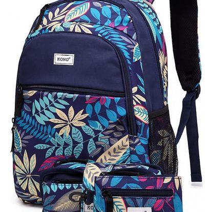 SET: Dívčí námořnicky modrý školní batoh Shayla 1742