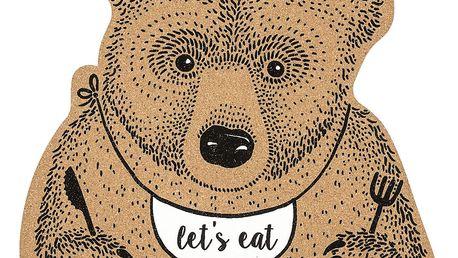 Bloomingville Korkové prostírání Bear, hnědá barva, korek