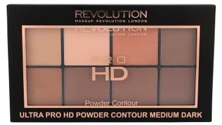 Makeup Revolution London Ultra Pro HD Powder Contour Palette 20 g pudr pro ženy Medium Dark