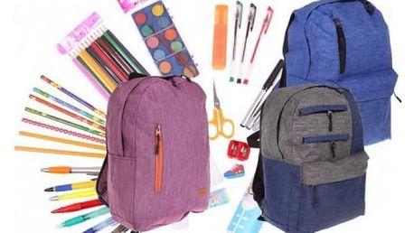 Batoh pro děti v 6 barvách a s náplní školních potřeb