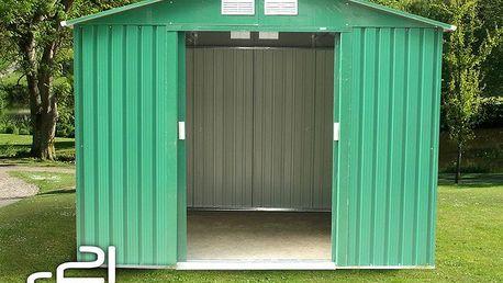 G21 GAH 730 Zahradní domek - 251 x 291 cm, zelený