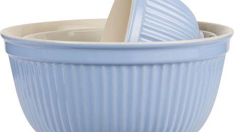 IB LAURSEN Keramická mísa Mynte nordic sky Velikost M, modrá barva, keramika