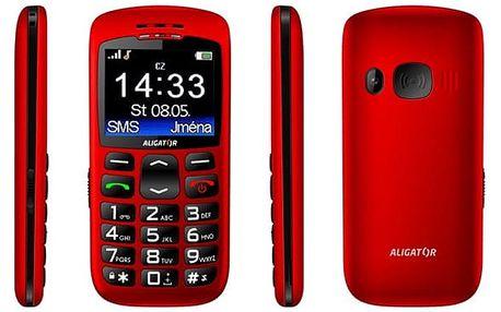 Mobilní telefon Aligator A670 Senior červený (A670R)