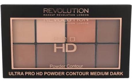 Makeup Revolution London Ultra Pro HD Powder Contour Palette 20 g pudr pro ženy Medium Dark