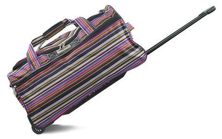 Pruhovaná cestovní taška na kolečkách INFINITIF, délka 60 cm