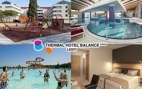 Maďarsko Thermal Hotel Balance propojeném s termálními lázněmi a polopenzí