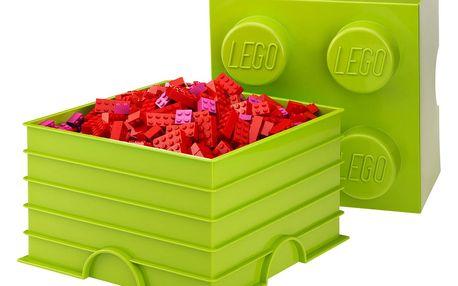 Limetkově zelený úložný box čtverec LEGO®