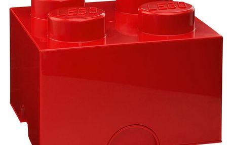 Červený úložný box čtverec LEGO®