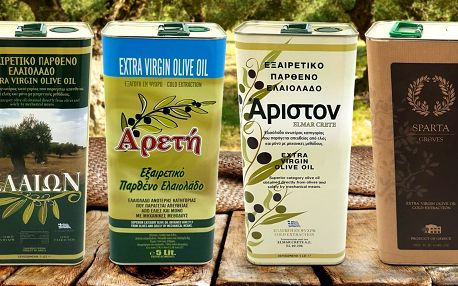 5 l Řecka: prémiové extra panenské olivové oleje