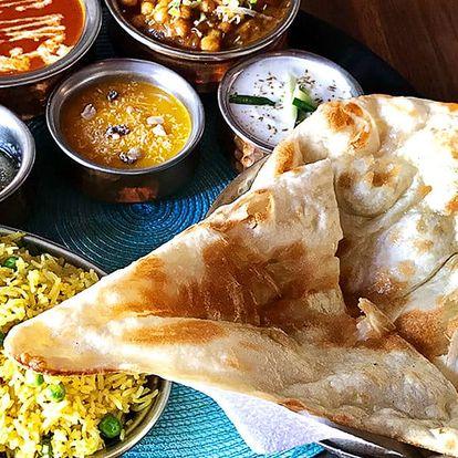 Indické menu pro 2 osoby